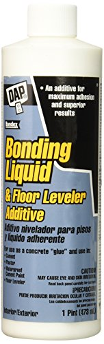 DAP 35082 Bonding Liquid & Floor Leveler Additive, 1 pint, White (Concrete Bonding Additive)
