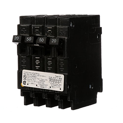 Siemens Q22050CT 50-Amp Double Pole Two 20-Amp Single Pole Circuit Breaker (Pole Breaker 50a 2)