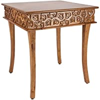 Brylanehome Meena Carved Wood Table (Natural,0)