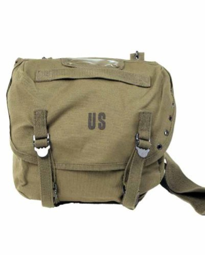 Miltec - Borsa messenger a tracolla, bisaccia, bandoliera, US Army, scritta US, per softair, paintball, outdoor, colore: Kaki
