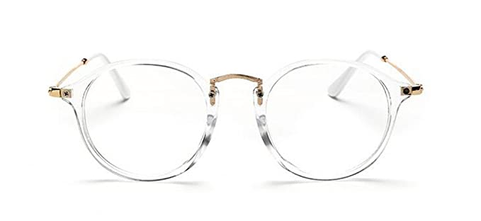 GAMT Brand New Colored Frame Plain Glasses with Lucency Glasses Fashion Design (Transparent, 52)