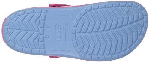 Crocs Crocband Clog, Zuecos con Correa, Unisex Chambray Blue/Paradise Pink