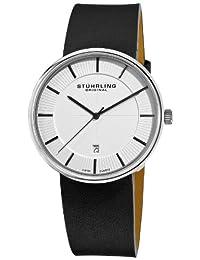 Stuhrling Original Men's 244.33152 Classic Ascot Fairmount Swiss Quartz Date Ultra Slim Black Watch