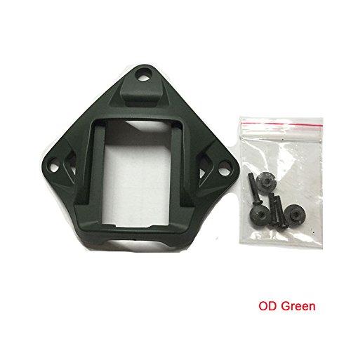 (ATAIRSOFT Mult Colors Tactical Airsoft Helmet Aluminum Devgru Style Mich VAS Shroud NVG Helmet Mount (OD Green))