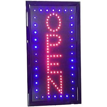 Amazon.com: Letrero abierto vertical LED de 19 x 10 pulgadas ...