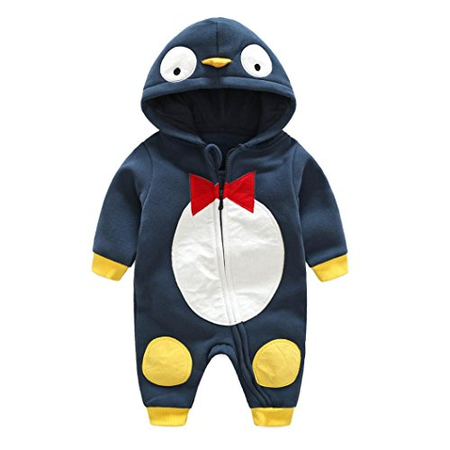 FEITONG Toddler Baby Boys Girls Animal Cartoon Hoodie Rompers Outfits Clothes (12Months, (Sweater Vest Costume Ideas)