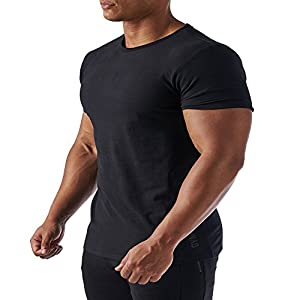 Men's Muscle Fitness Compression Shirt Baselayer Short Sleeve Tops Workout Running Cycling T Shirts 3 Colors