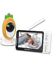 """Dragon Touch E40 Monitor Bebé 4.3"""" Video Cámara, Soporta Multi Cámaras, Visión Nocturna Infrarroja, Vigilancia de Temperatura, Canciones de cuna, Audio Bidireccional, Modo VOX"""