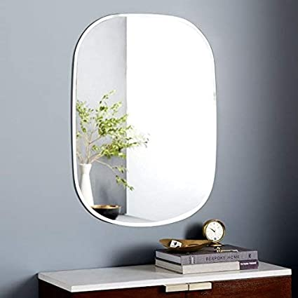 Seven Horses Oval Bevelled Wall Mirror (16 X 24 Inch)
