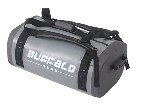 Terminal Bag Travel (Airtight Waterproof Duffel Bag 50L Large Grey 840D TPU Dry Bag Backpack Dry Bag for Travel, Motorcycling, Cycling, Hiking, Camping, Kayaking, Beach, Boating Swimming Rafting Fishing and Watersports)