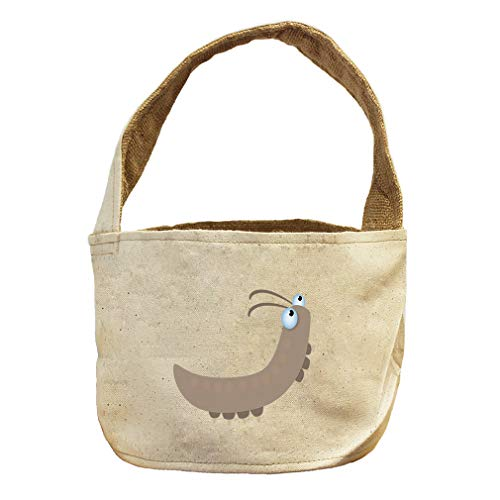 Style in Print Worm Crawling Up Animals Canvas and Burlap Storage Basket by Style in Print