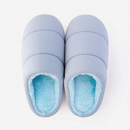 Señora Qzhe Del De Calientes Hogar Los La Invierno Azul Algodón Deslizadores Interior Zapatillas Térmicas Pantuflas rnrzxUwSqT