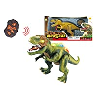 Papa N Me Store Remote Control RC T-Rex Spinosaurus Tyrannosaurus Dinosaur Electronic Toy Action Figure Walking & Moving(Color May Vary)