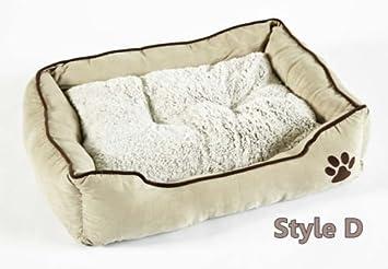 BUNNY BUSINESS - Cama para perro de piel sintética, muy suave, tamaño extra grande, 106,7 cm, color marrón/blanco: Amazon.es: Productos para mascotas