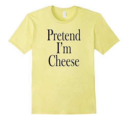 Mens Cheese Costume T-Shirt for the Last Minute Party Medium Lemon -