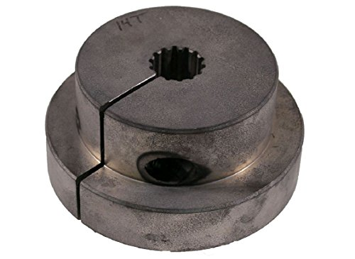 "Magnaloy M600A1412C Magnesium Magnaloy Premium Flexible Drive Coupling, Hub, Splined, SAE C Clamp, 30 Pressure Angle, 1-1/4"" Bore, 14 Teeth, 12/24 Pitch, Keyway"