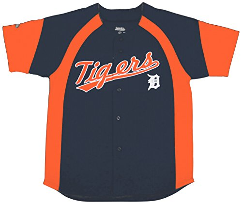 MLB Detroit Tigers Youth Fashion Script Jersey, Navy, Large