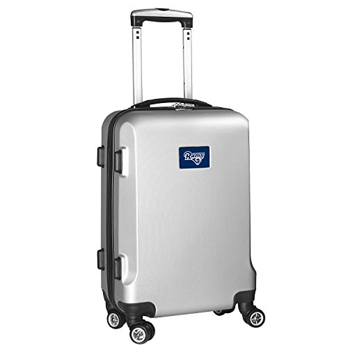 Denco NFL Los Angeles Rams Carry-On Hardcase Luggage Spinner, Silver