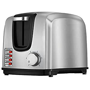 BLACK+DECKER T2707S 2-Slice Toaster, Bagel, Frozen, Reheat Toaster, Stainless Steel