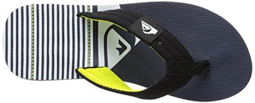 Quiksilver Molokai White Layback Sandal Strap Black Men's Blue r5S1r