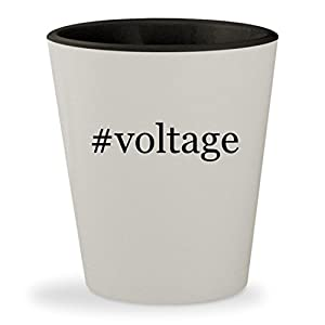 #voltage - Hashtag White Outer & Black Inner Ceramic 1.5oz Shot Glass
