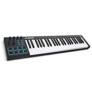 Alesis V49 | 49-Key USB MIDI Keyboard Controller with 8 Backlit Pads, 4 Assignable Knobs and Buttons, Plus a Professional Software Suite with ProTools | First Included