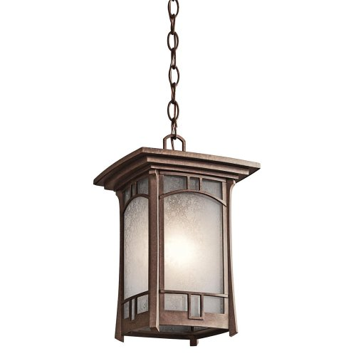 Kichler 49452AGZ Soria Outdoor Pendant 1-Light, Aged Bronze -