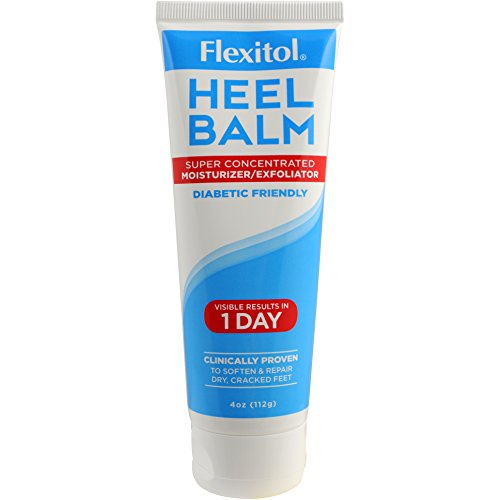 - Flexitol Heel Balm 4 Oz Tube, Rich Moisturizing & Exfoliating Foot Cream for Fast Relief of Rough, Dry & Cracked Skin on Heels and Feet. Use Daily or For Pedicures. Safe & Effective for Diabetic Use.