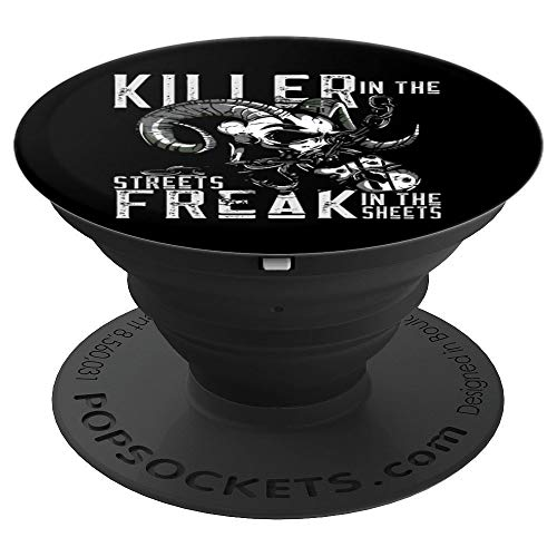 Killer In The Streets Freak In The Sheets Goat Skull Chains PopSockets Grip and Stand for Phones and Tablets]()