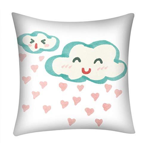 Littay Print Pillow Case Polyester Sofa Car Cushion Cover Home Decor ()