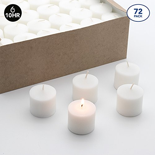 Royal Imports Votive Candle, Unscented White Wax, Box 72 Wedding, Birthday, Holiday & Home Decoration (10 Hour)