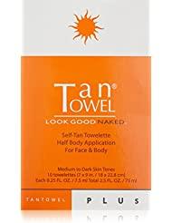 Tan Towel Self Tan Towelette Plus, 10 Count