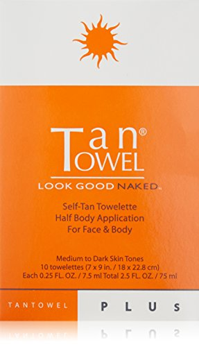 Tan Towel Self Tan Towelette Plus, 10 Count (Tan Body Towels)