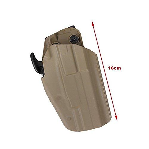 TMC Airsoft Holster Universal Standard Gun Holster for G17/22/37 HK45 M&P45 - Coyote Brown