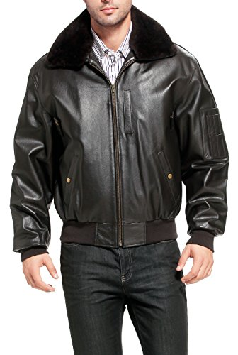 Landing Leathers Men's Air Force B-15 Leather Flight Bomber Jacket - Tall XLT Dark Brown