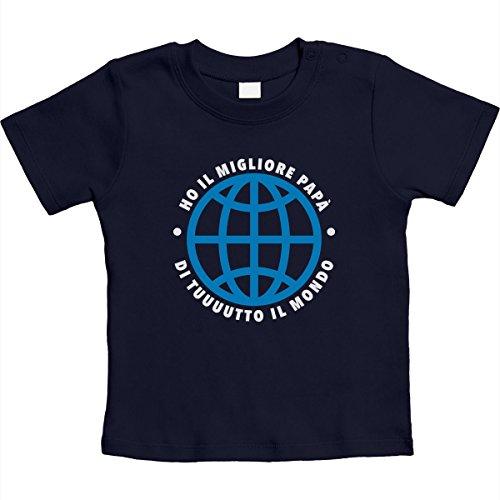 Maglietta Navy Regalo Shirtgeil Unisex Neonato Ho Papà Del Per Migliore Il Mondo B4814pqw