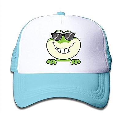 jacson Frog with Glasses Kid Mesh Baseball Cap Boys Girls Snapback Trucker Hat