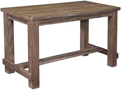 BOWERY HILL Rectangular Counter Height 36 Dining Table in Rustic Light Brown