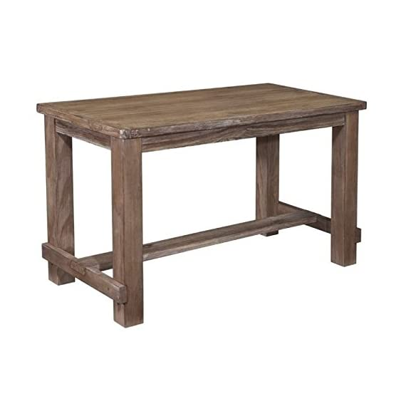 """BOWERY HILL Rectangular Counter Height 36"""" Dining Table in Rustic Light Brown - Finish: Light Brown Material: Select Pine Veneers and Solids Vintage Casual Style - kitchen-dining-room-furniture, kitchen-dining-room, kitchen-dining-room-tables - 41iXe55Vx1L. SS570  -"""