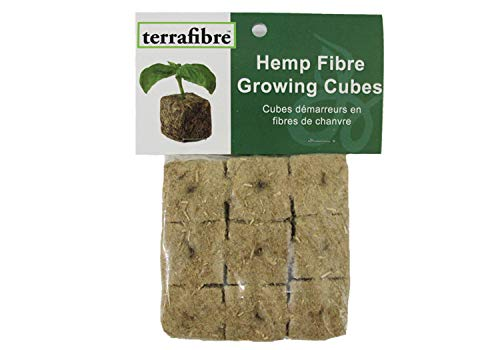 Hemp Fibre Growing Cubes (9, 1.5) 9 Pack of 1.5