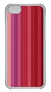 Customized iphone 5C PC Transparent Case - Red Stripe Cover by heywan