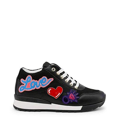 para Rosa Love Zapatillas de 36 Rose mujer Cuero de deporte EU Moschino 6c484wqxOY