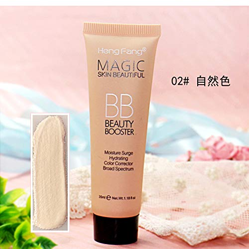 Natural 3 Colors Easy To Wear Whitening Brightner Face Primer BB Cream Foundation Makeup Concealer Base BB CC Cosmetics 2