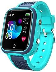 4G smartklocka barn, WIFI IP67 vattentät pekskärm pojkar flickor WiFi Bluetooth armbandsur med GPS WiFi LBS spårare realtidsposition, 4G video telefonsamtal realtid spårningskamera