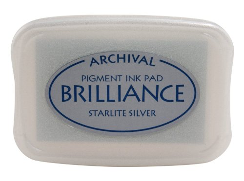 (Tsukineko Brilliance Full-Size Pad, Starlite Silver)