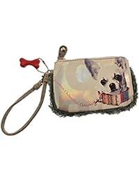 Chihuahua Dog Wristlet Wallet Coin Purse Faux Fur