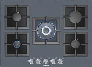 Bosch PPQ719B21E hobs - Placa (Incorporado, Gas, Vidrio, Giratorio, 1m, 11400W) Plata