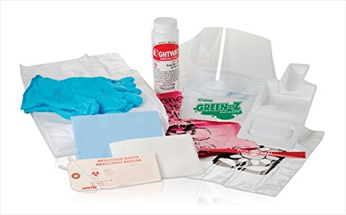 Safetec of America 48725 Chemo Spill Response Kit Poly Bag44; Case of 12 by Safetec of America