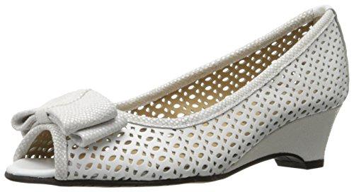 VANELi Women's Brinly Wedge Sandal, White Perfed Nappa/White Summer VIP, 7.5 N US by VANELi