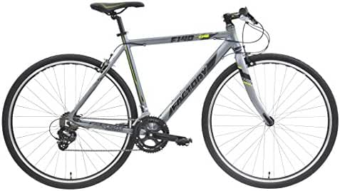CLEARANCE SALE - Factory Flat Bar Road Bike F140-700C,14SP,GREY/BK/YELLOW